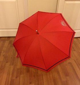Зонтик новый красный