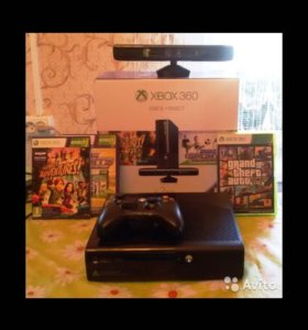 Xbox360, 500gb, Kinect, 3 игры