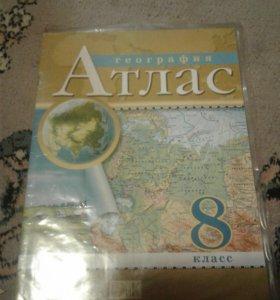 Атлас по географии(7, 8 класы)