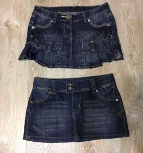 Юбки джинсовая