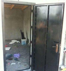 Дверь металлическая в гараж