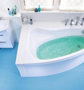 Ванна акриловая ассиметричная SICILIA