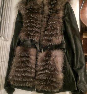 Куртка натуральная чернобурка