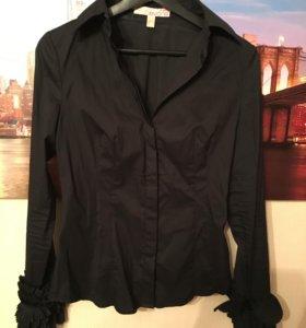 Чёрная рубашка с манжетами