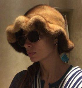 Норковая шапка-шляпа