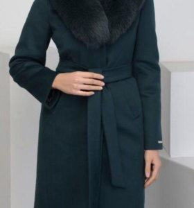 НОВОЕ Зимнее пальто с мехом песца