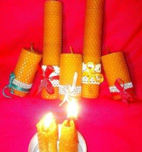 Свечи тз натуральной вощины