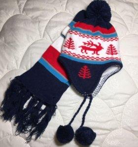 Новая. Шапка и шарф для мальчика 👦 новые