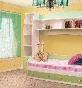 Новая детская кровать+шкафы