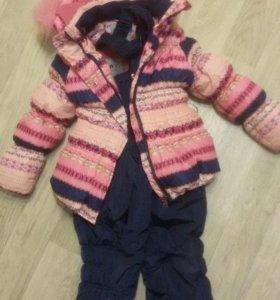 Комбенизон и куртка зимние на девочку