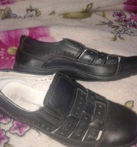 Туфли новые кожа р 34