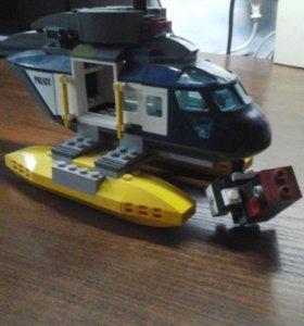 Лего вертолёт (пушку делал сам)