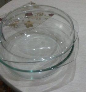 Посуда из жаропрочного стекла для духовки и СВЧ