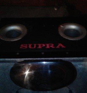 Сабвуфер  Pioneer 1300w в коробе Supra