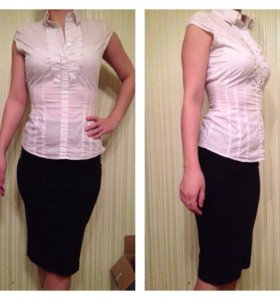 Блузка + юбка карандаш