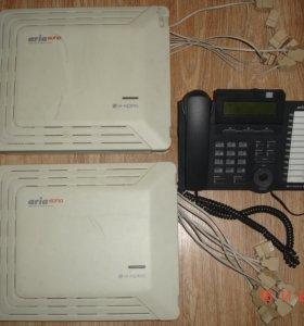 Атс LG aria soho. Основной+ доп. блок+ сис.телефон