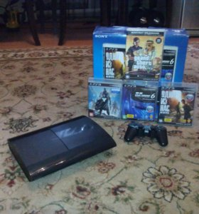 Sony PlayStation 3 Super Slim 500 gb + Игры