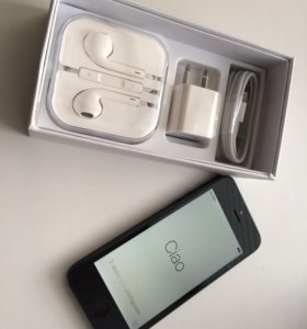 Новый iPhone 5 16g чёрный