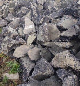 Бой асфальта и бетона, крупная и средняя фракция