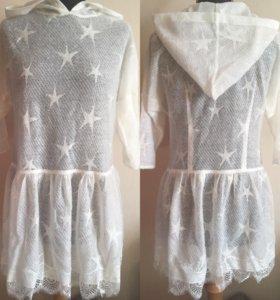 Тонкое платье из ангорки