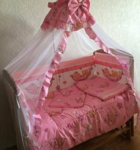 Комплект в кровать для новорожденных Бортик