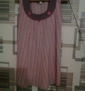 Супер сарафан для беременных с брюками.