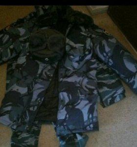 Военный костюм с бушлатом