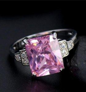 Посеребренное новое кольцо