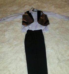 Детский костюм брюки жилет рубашка