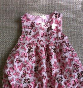 Детское праздничное платье размер 74