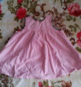 Вельветовый сарафан для девочки