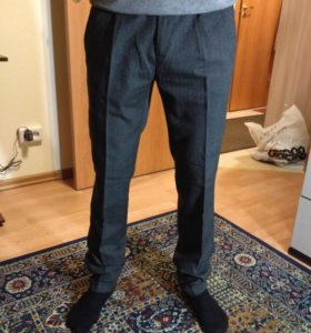 Мужские брюки, серые 44 (s)