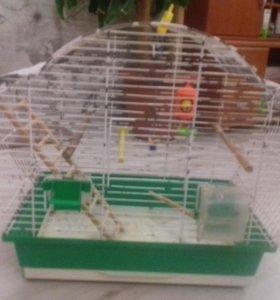 Клетка для попугаев (с игрушками )