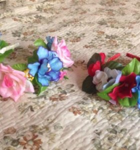Цветочные ободки на голову