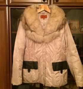 Куртка зимняя с натуральным лисьим мехом