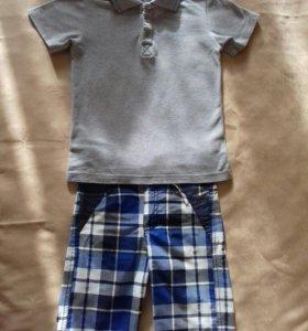 Набор футболка+шорты, рост 116