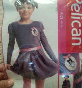 платье новое. велюровое. рост 98-104