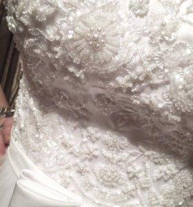 Свадебное платье+чехол