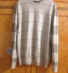 Кофта бу с длинным рукавом (легкий свитер)размер L