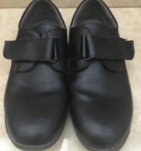Туфли школьные кожаные