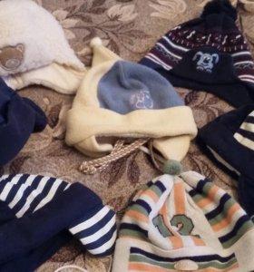Зимние шапки на 1-3 года
