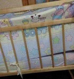 Кроватки новые качалки