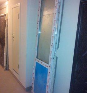 Дверь пластик балкон б у