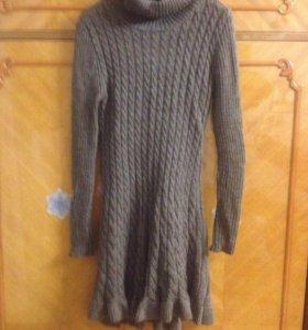 Платье бу вязаное размер 42-44