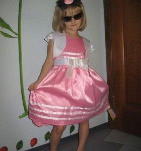 Розовое платье(в наличии 2 размера)