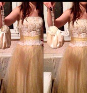Выпускное платье + клатч