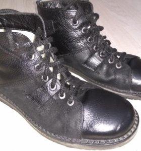 Зимние ботинки кожаные мужские 42 размер