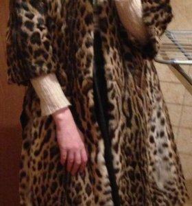 Шуба леопардовая! Новая