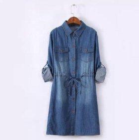 Джинсовое платье рубашка.