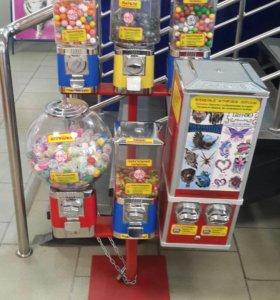 Механический автомат для игрушек и жевачки